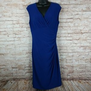 Ralph Lauren size 10 blue bodycon dress